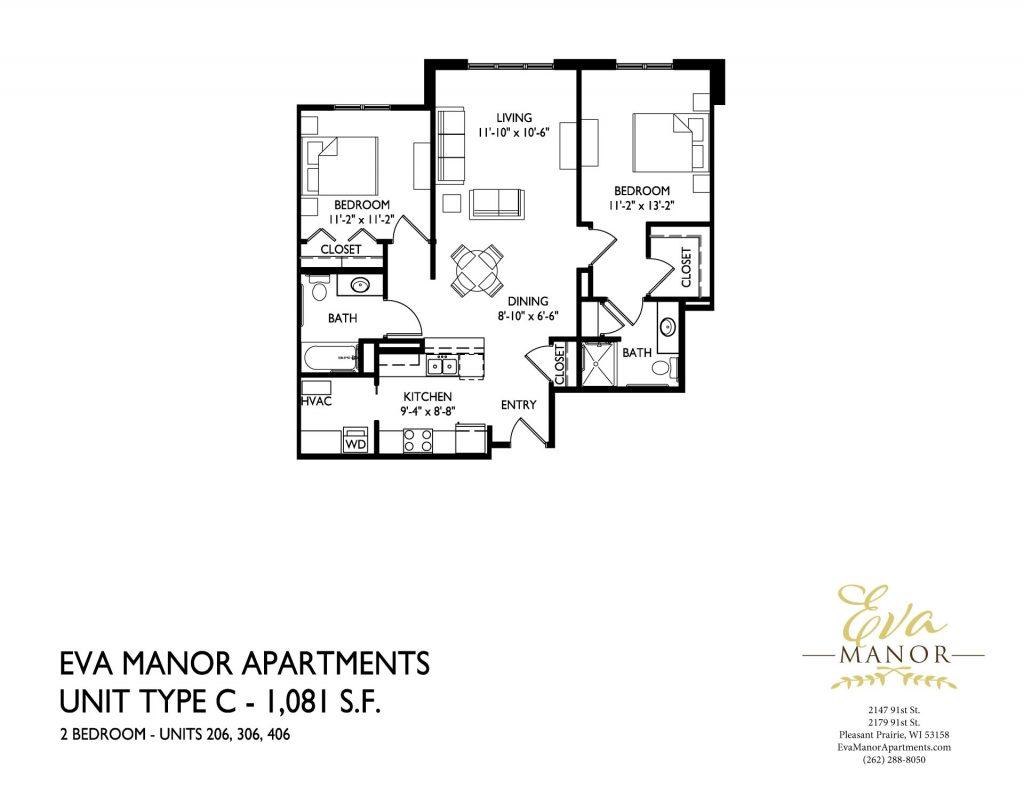 senior housing pleasant prairie, eva manor apartments, senior living apartments in pleasant prairie